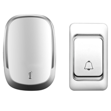 New Wireless Doorbell DC Battery Control Button 200M Remote LED Light for Home Call Bell