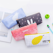 1PCS watermelon pencil case cute school supplies Creative kalemlik estuche escolar trousse scolaire style pencil case kalemlik watermelon pattern jelly pencil case