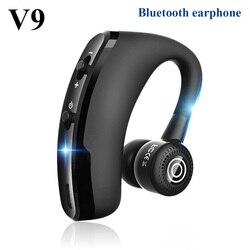 V9 écouteurs sans fil Bluetooth casque mains libres dans l'oreille écouteurs d'affaires casque lecteur appel stéréo HiFi sport écouteurs