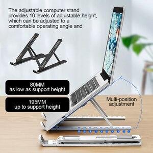 Image 1 - Có Thể Gập Lại Laptop Chân Đế Có Thể Điều Chỉnh Máy Tính Xách Tay Đứng Laptop Di Động Giá Đỡ Máy Tính Bảng Máy Tính Hỗ Trợ Cho MacBook Air Pro