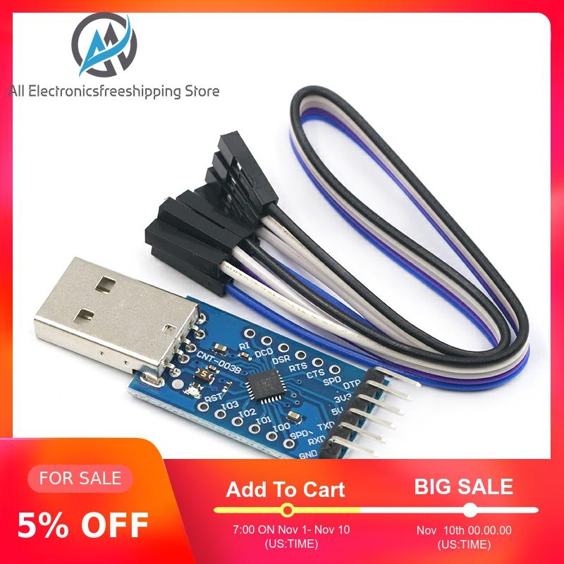 USB 2.0 To TTL UART 6PIN Module Serial Converter CP2104 STC PRGMR Replace CP2102 With Dupont Cables