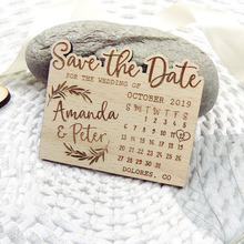 Calendar Save the Date Magnet, Wood  Mountain Save the Date, Custom Leaf Save the Date, Adventure Save the Date