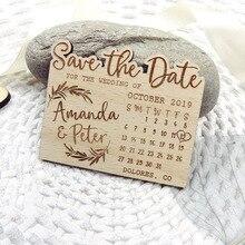 Kalender Besparen de Datum Magneet, Hout Mountain Besparen de Datum, Custom Blad Besparen de Datum, adventure Besparen de Datum