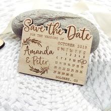 Kalender Sparen die Datum Magnet, Holz Berg Sparen die Datum, Nach Blatt Sparen Sie die Datum, abenteuer Sparen die Datum