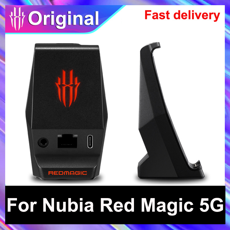 Type C Desktop Charger Dock For Nubia Red Magic 5G Smartphone 3.5mm Earphone Hole Charging Station Charger For Nubia RedMagic 5G