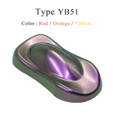 YB51 Chameleon Pigments Acrylic Paint Powder Coating Dye for Automotive Arts Crafts Painting Decoration Nail Chrome Plating 10g