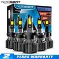 NOVSIGHT Led автомобилей головной светильник Светодиодные лампы H7 H11 H8 H9 H1 H3 H4 9005 9006 9012 9007 72 Вт 10000LM H13 Автомобильные фары головного света, противоту...