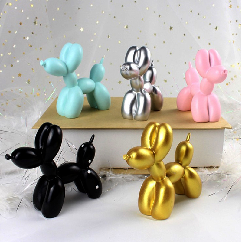 >Cute Small Balloon dog Resin Crafts Sculpture <font><b>Gifts</b></font> Fashion Cake baking Home <font><b>Decorations</b></font> Party Dessert Desktop Ornament 5 Colors