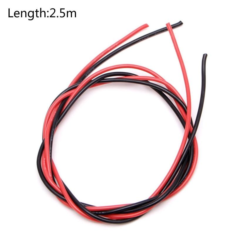 Câble Silicone Super Flexible 2.5 mètres haute température 16 AWG fils batterie RC GXMB