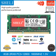 цена на SHELI 8GB PC3-12800 DDR3 1600Mhz 204pin SODIMM RAM Laptop Memory CL11 1.5v