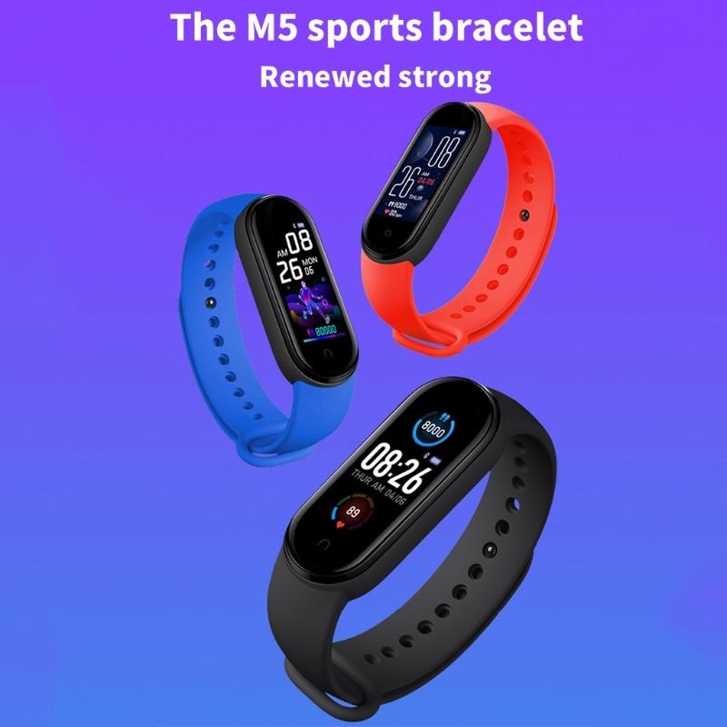 Смарт-часы M5 для мужчин и женщин, монитор сердечного ритма, фитнес-трекер артериального давления, Смарт-часы, 5 спортивных часов
