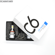 ECAHAYAKU C6 All-in-one Car LED Headlight bulbs 6000K 72W/kit headlamp H1 H3 H4 H7 H11 HB3 HB4 9007 H13 for VAS SUV ATV Fog bulb itimo 40w each bulb headlamp all in one version of x7 led headlight super bright car styling h11