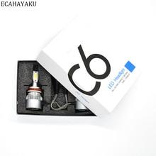 ECAHAYAKU C6 All-in-one Car LED Headlight bulbs 6000K 72W/kit headlamp H1 H3 H4 H7 H11 HB3 HB4 9007 H13 for VAS SUV ATV Fog bulb
