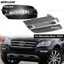 СВЕТОДИОДНЫЙ DRL Габаритные огни дневного света противотуманная фара для Mercedes Benz W164 ML280/300/320 ML350 ML300 2006 2007 2008 2008 2010