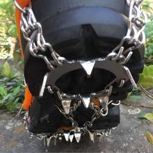 CS740 качество Открытый скалолазание противоскользящие кошки зимняя ходьба 18 зубов ледяная Рыбалка снегоступы марганцевой стали скольжения бахилы