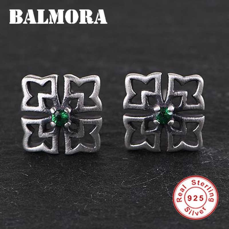 أقراط للسيدات من BALMORA موديل 100% من الفضة الإسترليني عيار 925 بنمط مخرم وأقراط من الزركون مجوهرات أنيقة عتيقة للسيدات