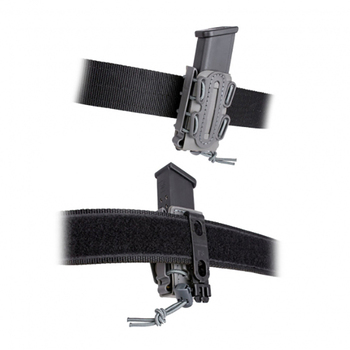Tactical Soft Shell Magazine Pouch 9mm Single Stack 45 Caliber Pistol Magazine Carrier w/ Duty Belt Loop 6