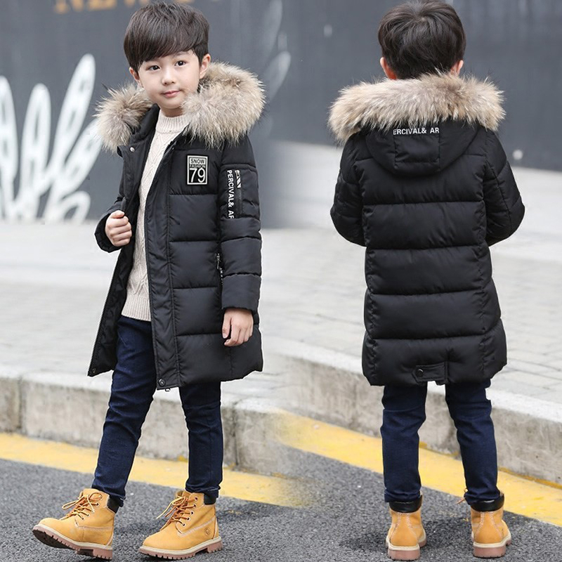 Одежда для маленьких мальчиков зимнее пальто детская зимняя куртка из хлопка с капюшоном в стиле пэчворк теплая верхняя одежда для мальчик