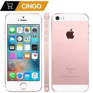 Разблокированные сотовые телефоны Apple iPhone SE LTE 4,0 дюйма 2 Гб ОЗУ 16/64 Гб ПЗУ чип A9 iOS 9,3 двухъядерный телефон со сканером отпечатка пальца