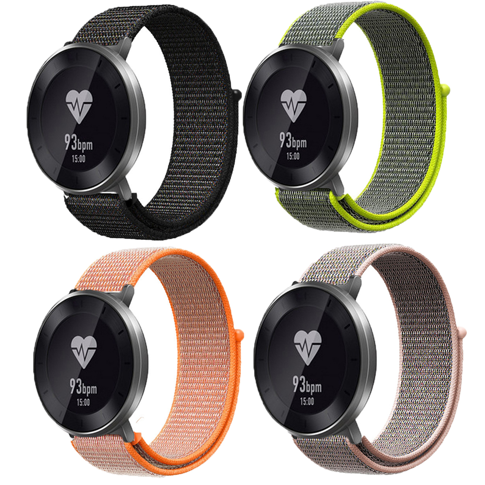 Nylon Loop wrist strap For Huawei Watch 1/Honor S1 smart watch band soft sport straps 18mm Quick Release Bracelet for fossil