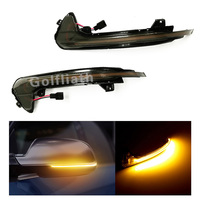 2pcs Side Mirror Sequential Blink Turning Signal Lights For Audi A6 C7 RS6 LED Flowing Rear View Signal Lamps