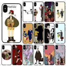HTxian  Leon Matilda Natalie Portman Movie Poster Cell Phone Case for iPhone 11 pro XS MAX 8 7 6 6S Plus X 5 5S se 2020 XR case yinuoda leon matilda natalie portman novelty fundas phone case cover for iphone x xs max 6 6s 7 7plus 8 8plus 5 5s se xr