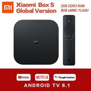 Image 1 - Xiaomi Mi Box S 4K HDR Android TV 8,1 Mi Boxs 2G 8G WIFI Google Cast Netflix IPTV Set Top Mi Box S 4 Media Player Globale Version