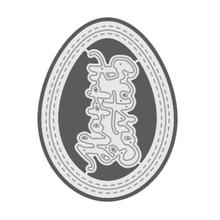 Naifumodo 2PCS/Lot Egg Happy Easter Letter 2019 Metal Cutting Dies Stencil for DIY Scrapbooking photo album Decorative