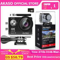 AKASO EK7000 WiFi 4K kamera akcji ultra hd wodoodporna kamera dv 12MP kamery kamera sportowa 170 stopni szeroki kąt oryginalny