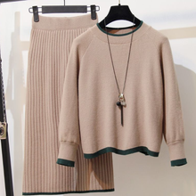 2020 New Autumn Winter Women 2 Piece Set Pullovers Tops and Skirt Sweater Knitted Suits Long Sleeve Plus Size Outfits DG647(China)