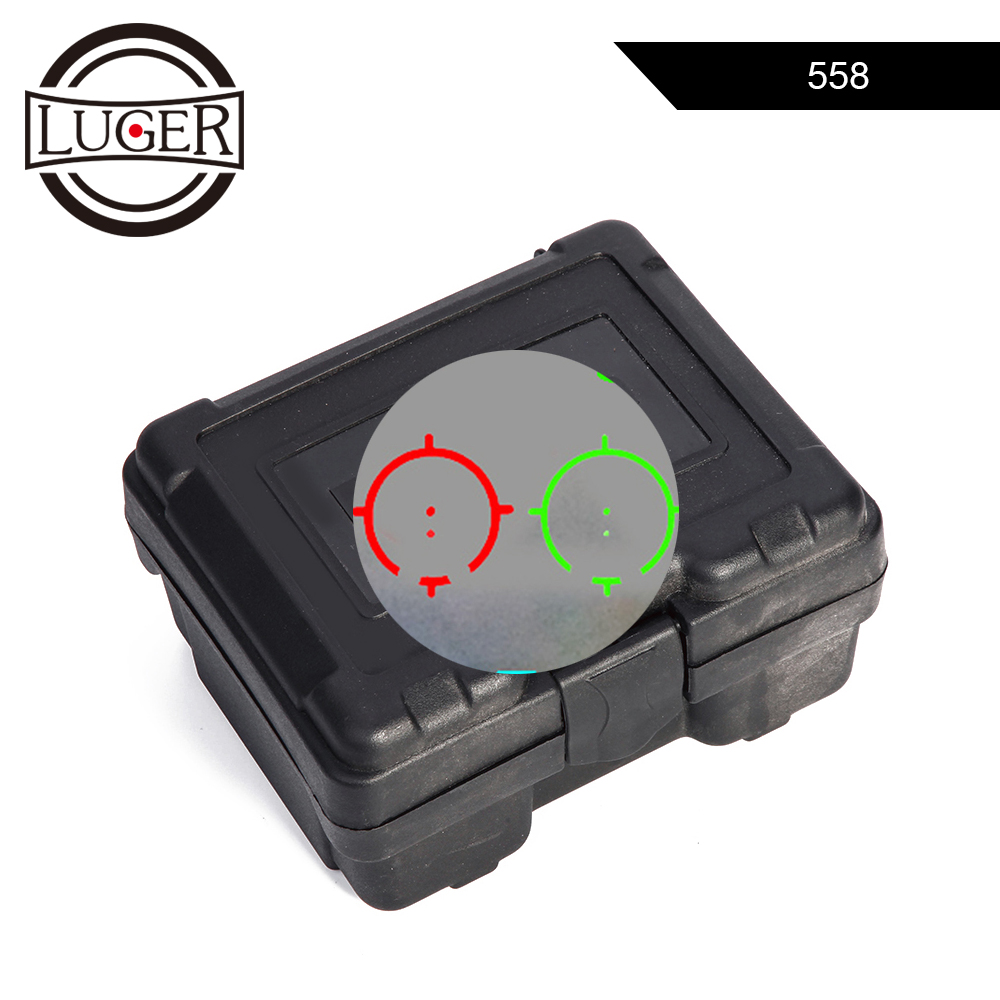<font><b>558</b></font> <font><b>Red</b></font> Green <font><b>Dot</b></font> Sight Rifle Scope Tactical Collimator Scope Holographic Airsoft Sniper <font><b>Red</b></font> <font><b>Dot</b></font> Hunting Optic Sight Rifle Scope image