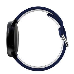Для Samsung galaxy watch Active 2 40 мм 44 мм силиконовый ремешок для часов Active2 20 мм спортивный браслет для galaxy Watch 42 мм S2
