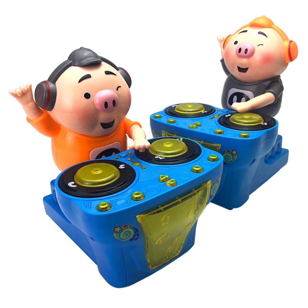 DJ Music Rocking Electric Pig Toys Lighting Music Funny Baby Education Toys