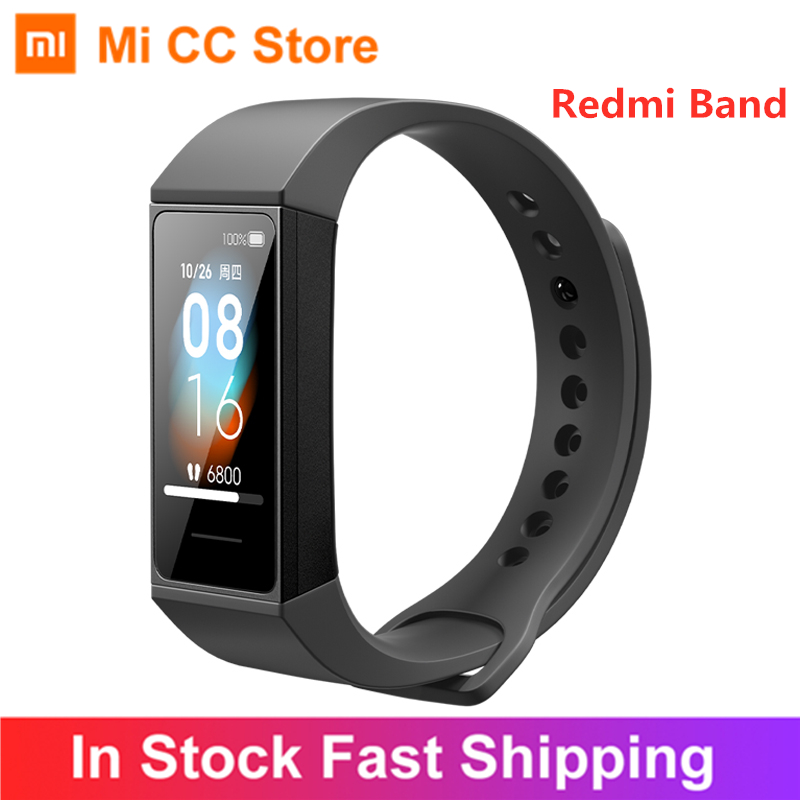 Xiaomi Redmi Band Smart Wristband Fitness Tracker 1 08inch Color Screen 4 Color Heart Rate Monitor BT5 0 USB Charging Bracelet