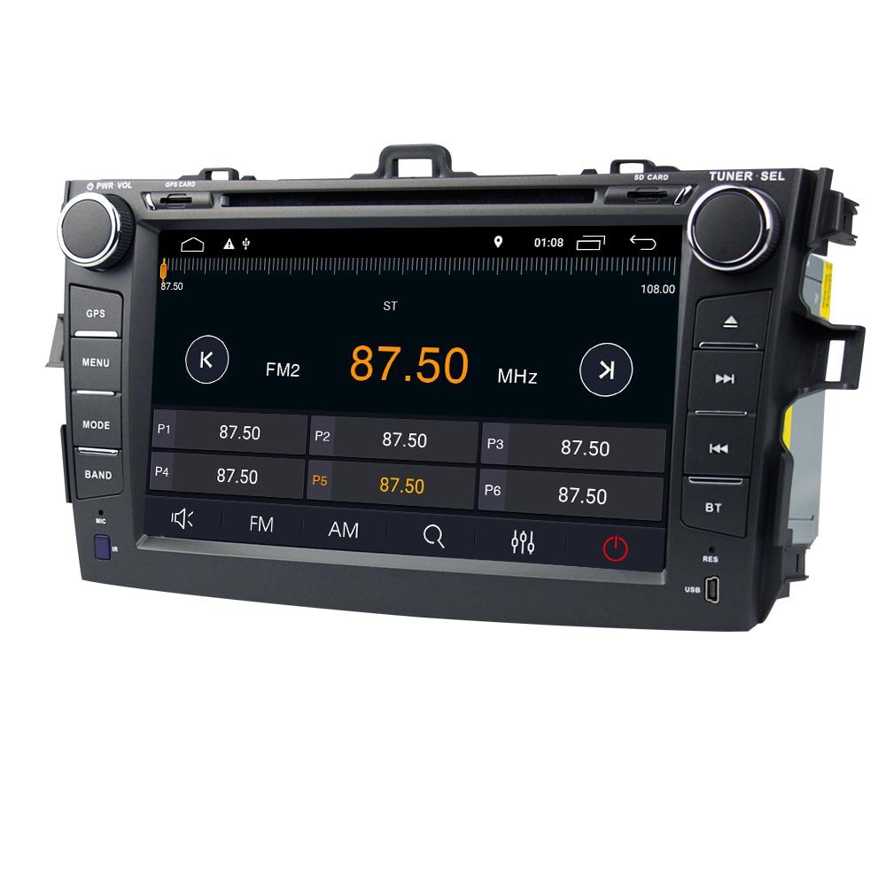 Eunavi TDA7851 2 din Android 9,0 auto-dvd-multimedia-spieler gps für Toyota Corolla 2007 2008 2009 2010 2011 1024*600 stereo radio