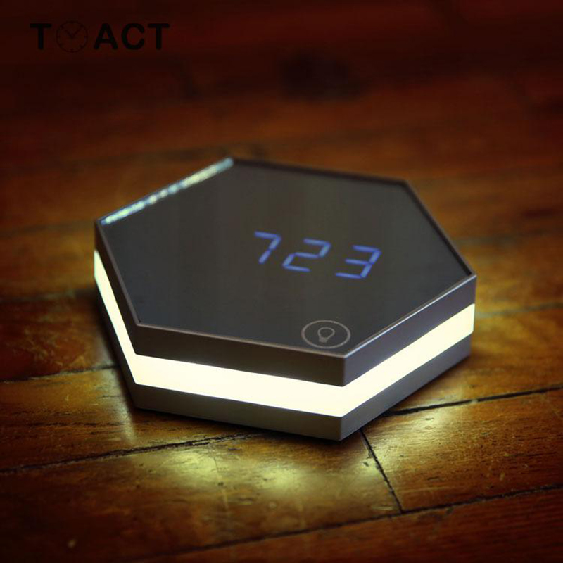 LED Mirror Alarm Clocks with Temperature Display Powered with USB Used as Night Light Useful for Home and Office 4