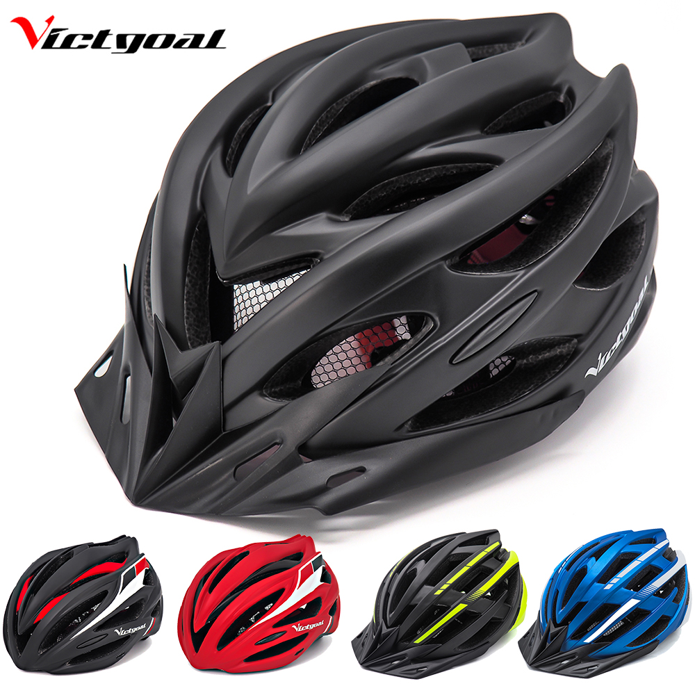 VICTGOAL Molded Bike-Helmet Back-Light Mountain-Road-Bike Women Integrally Black MTB title=