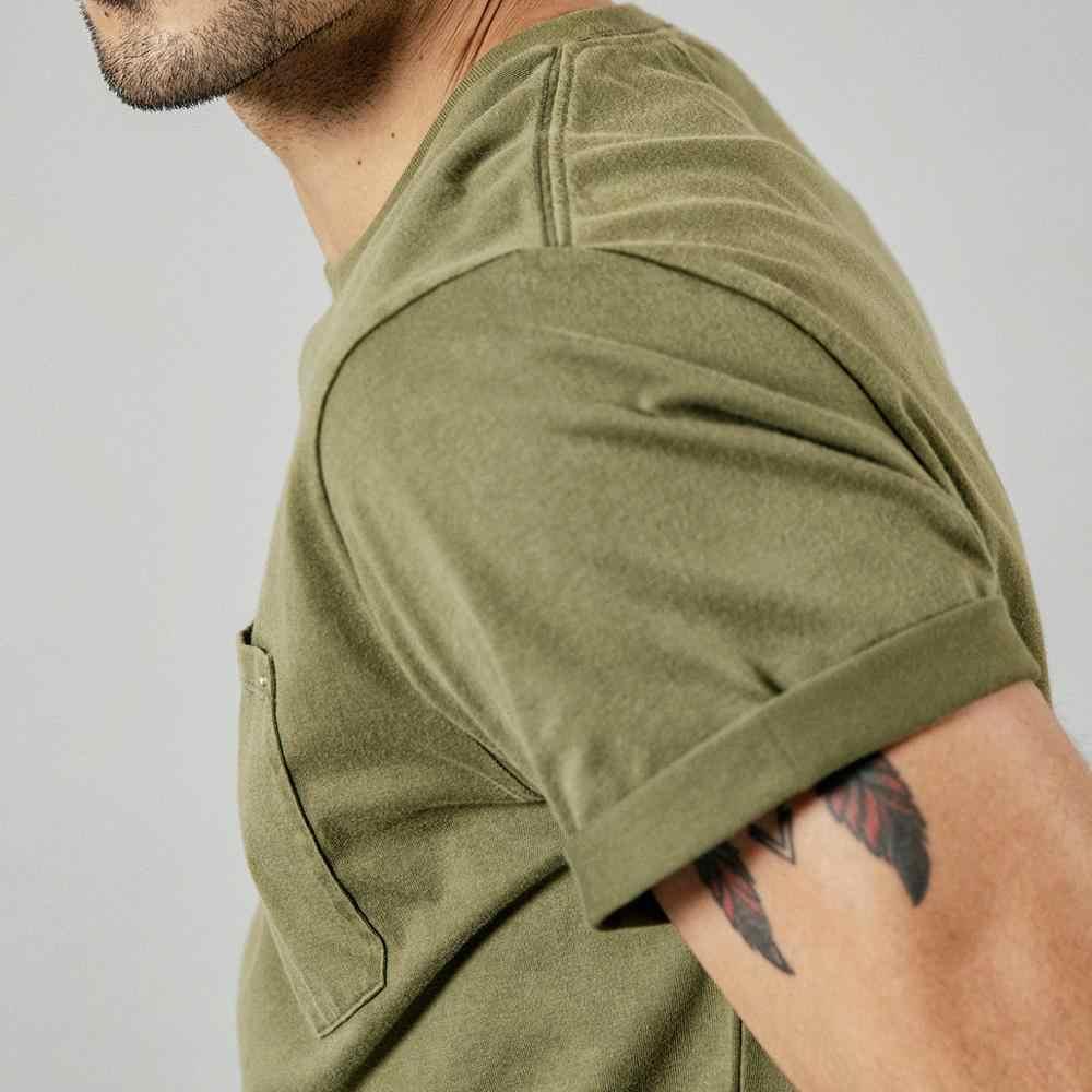 Мужская Винтажная Футболка SIMWOOD, модная футболка с круглым вырезом в стиле сафари, брендовая одежда из 100% хлопка, лето 2020, 190268