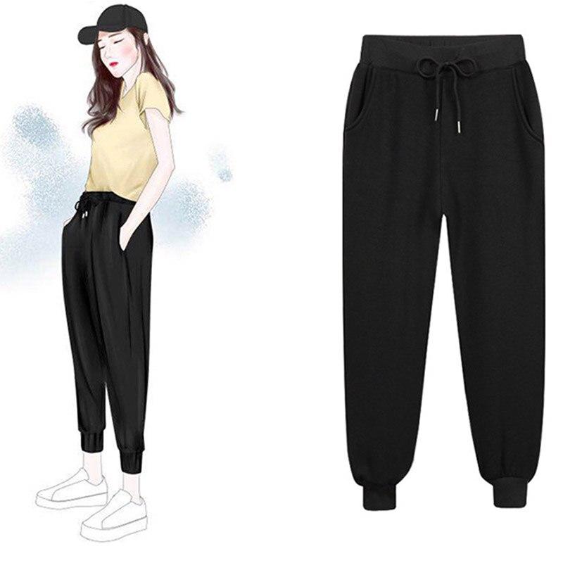 Осенние женские шаровары, спортивные штаны размера плюс с большим карманом, свободные штаны большого размера s, женские джоггеры