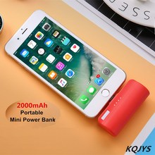 KQJYS 2000mAh Portable Charger Mobile Phone Mini Mobile Power Pack External Battery Fast Charging For iPhone Millet Samsung