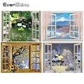 EverShine 5D алмазная живопись, наборы мозаики для окон, алмазная вышивка, пейзаж, картина стразы, зимнее настенное искусство, вышивка