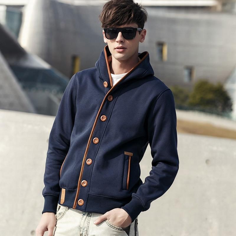 Rollsrari Winter Pullover Men Hoodie Ethnic Style Sweater Jackets Coat Male Cardigan Hoodies Fashion Mens Street Wear Asian size 1