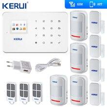 Kerui G18 GSM 홈 경보 시스템 보안 TFT 안드로이드 IOS APP 터치 키패드 스마트 도난 경보 DIY 모션 센서