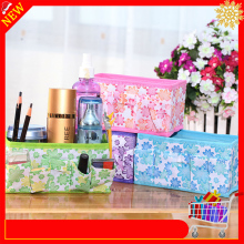 Storage-Box Makeup-Organizer Jewelry Desktop Foldable Stationery Cloth Cosmetic Sundries