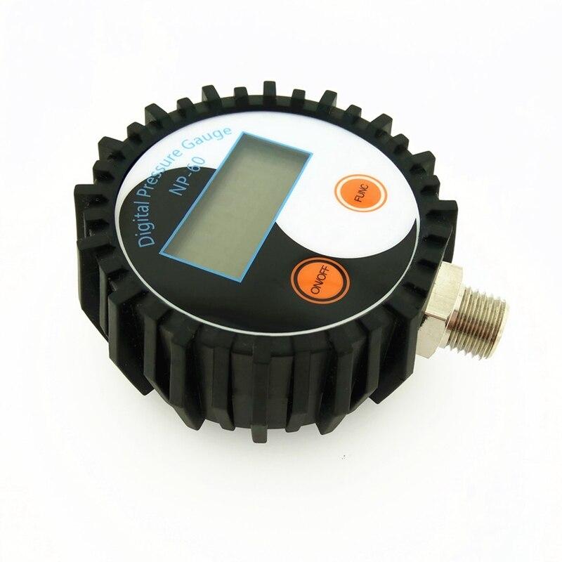 Новый-цифровой вакуумный манометр гидравлический воздушный компрессионный манометр барометр диапазон 3-200 PSI (1.4MP
