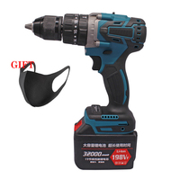 Brushless Electric Screwdrive 21V Impact Drill Socket 4000mAh Li Battery Hand Drill Installation Power Tools With 1 Battery