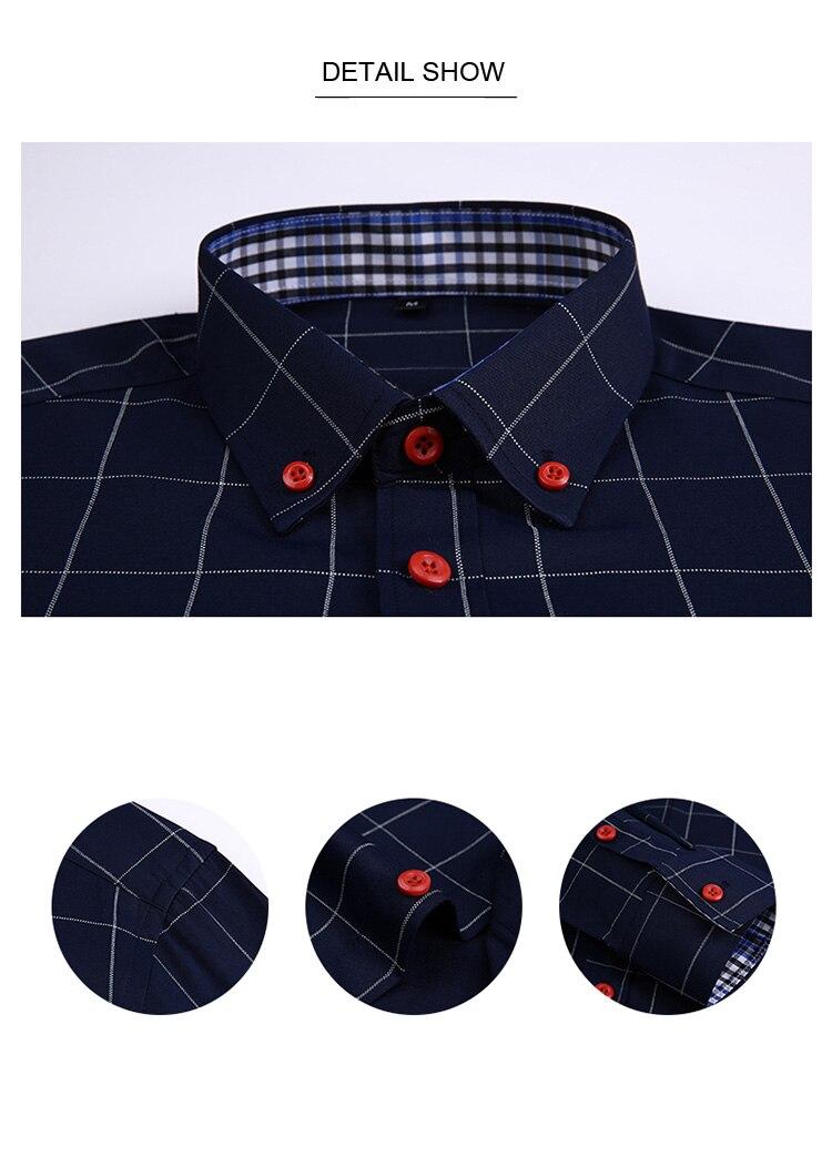 H95139845017c40cbbb991e45c78ba8f3N Handsome Fashion Men Shirts Casual Long Sleeved Plaid Shirt Regular Fit Male Blouse 4XL 5XL