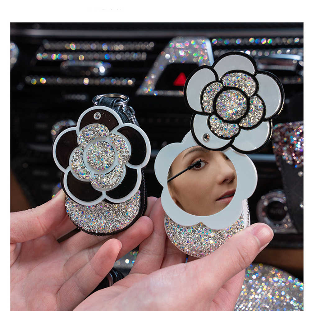 Universel Bling diamant cristal PU cuir fermeture éclair voiture clé étui sac coque couverture