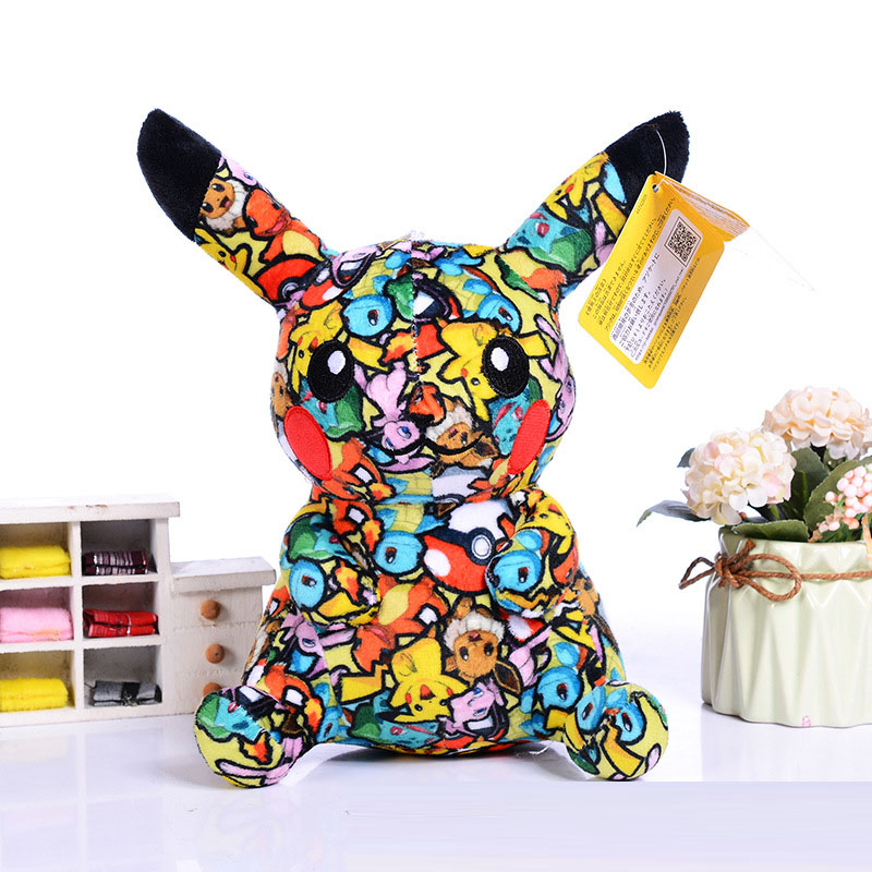 High Quality Stuffed Plush Pikachu Toys Cute Soft  Animal Cartoon Lucky Doll For Kids Birthday Surprises Gifts
