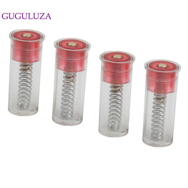 GUGULUZA Tapas de presión para pistola calibre 12, 4 Uds., cartuchos de entrenamiento táctico, rondas de entrenamiento de plástico 12GA